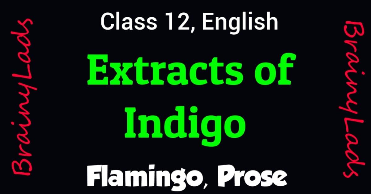 Extracts of Indigo