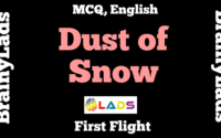 MCQ of Dust of Snow