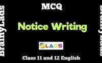 MCQ of Notice Writing