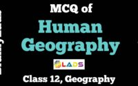 MCQ of Human Geography
