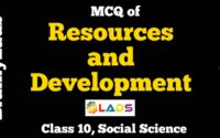 MCQ of Resources and Development