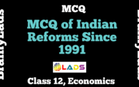 MCQ of Indian Reforms Since 1991