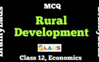 MCQ of Rural Development