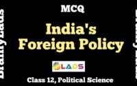 MCQ Of India's Foreign Policy