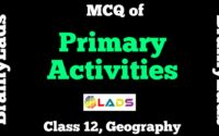 MCQ of Primary Activities